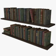 Scaffale per libri antichi Low Poly 3d model