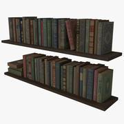 Estantería Libros Antiguos Low Poly modelo 3d