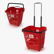 Пластиковая корзина для покупок 3d model