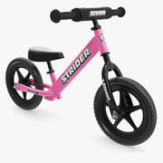Kids Balance Bike Pink 3d model