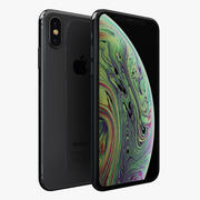 iPhone XS Space Grey 3d model