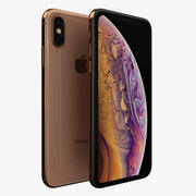 iPhone XS goud 3d model