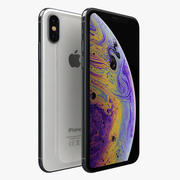 iPhone XS zilver 3d model