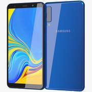 Samsung Galaxy A7 2018 Blue 3d model