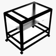 Wózek serwisowy metalowy / szklany 3d model