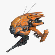 Drone oranje kleur 3d model