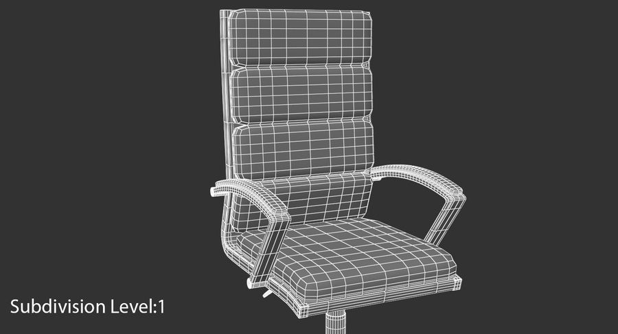 Chaise de bureau moderne royalty-free 3d model - Preview no. 18