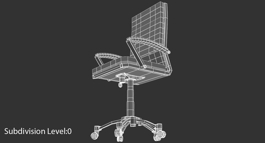 Chaise de bureau moderne royalty-free 3d model - Preview no. 14