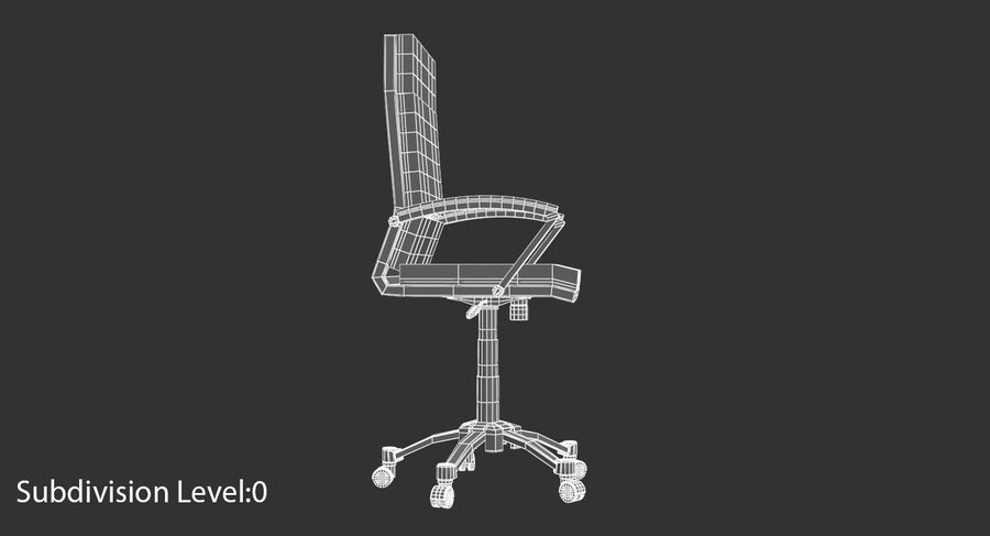Chaise de bureau moderne royalty-free 3d model - Preview no. 12