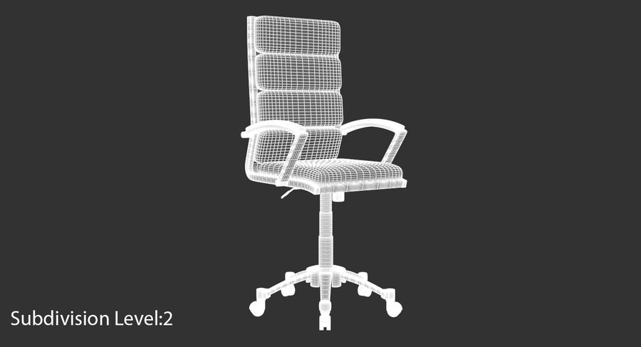 Chaise de bureau moderne royalty-free 3d model - Preview no. 19