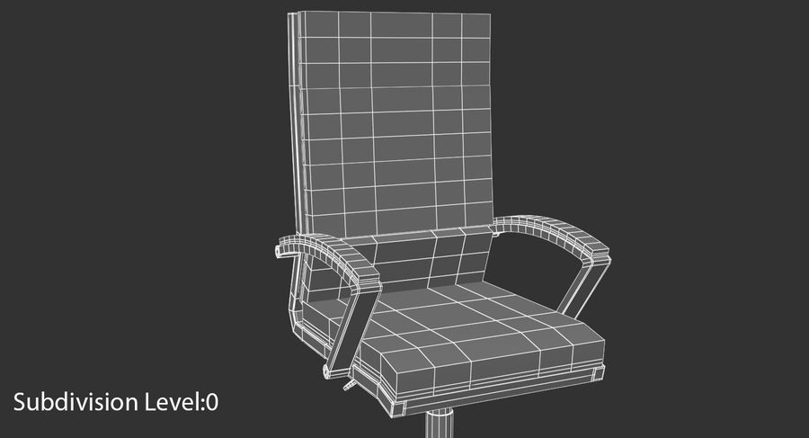 Chaise de bureau moderne royalty-free 3d model - Preview no. 15