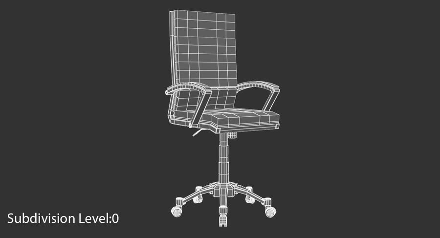 Chaise de bureau moderne royalty-free 3d model - Preview no. 10