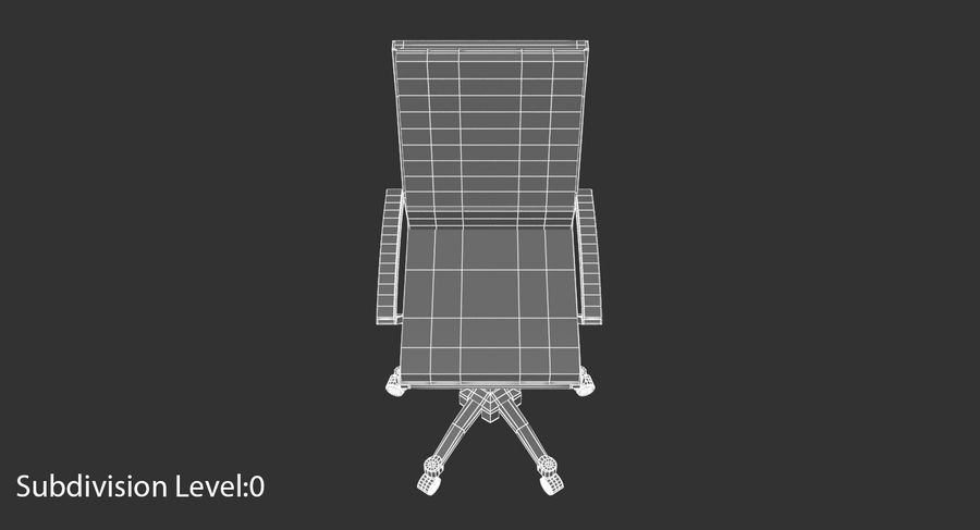 Chaise de bureau moderne royalty-free 3d model - Preview no. 11