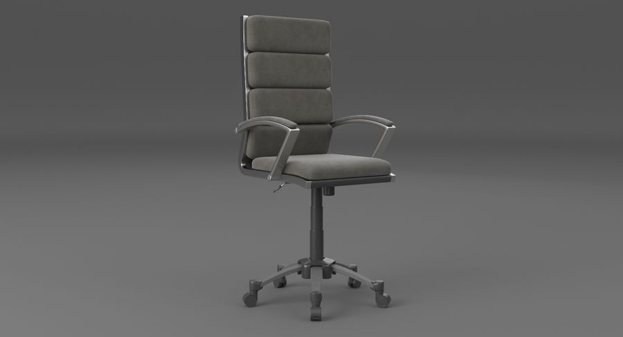 Chaise de bureau moderne royalty-free 3d model - Preview no. 3