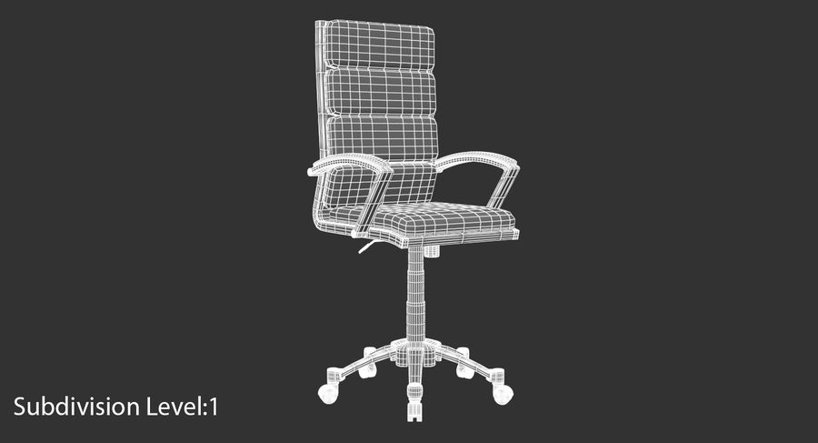 Chaise de bureau moderne royalty-free 3d model - Preview no. 17