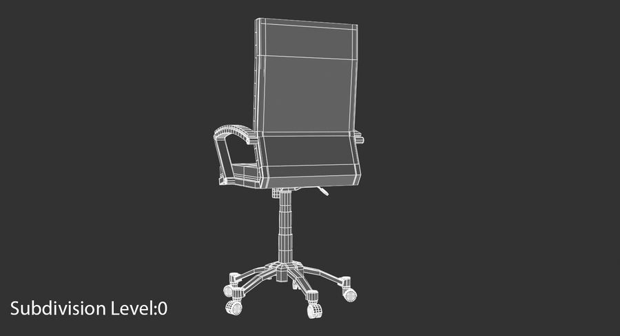 Chaise de bureau moderne royalty-free 3d model - Preview no. 13