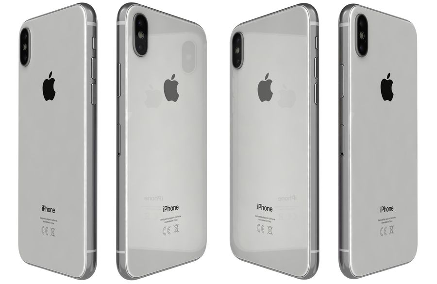 Apple iPhone XS Vit royalty-free 3d model - Preview no. 6