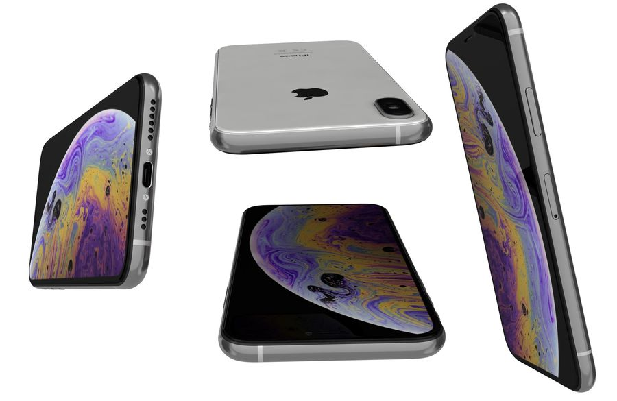 Apple iPhone XS Vit royalty-free 3d model - Preview no. 16