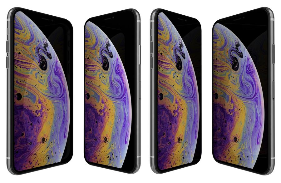 Apple iPhone XS Vit royalty-free 3d model - Preview no. 2