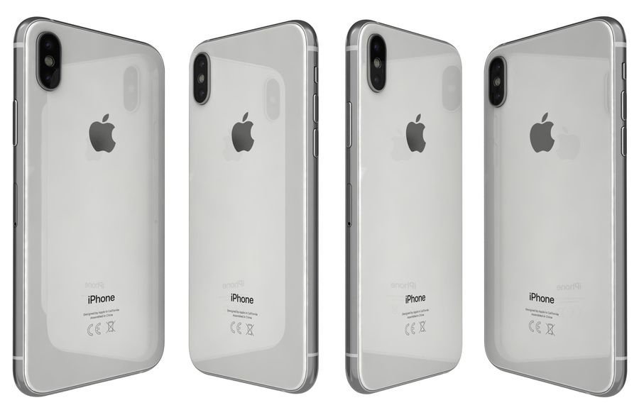 Apple iPhone XS Vit royalty-free 3d model - Preview no. 4