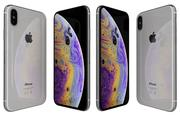 Apple iPhone XS Branco 3d model