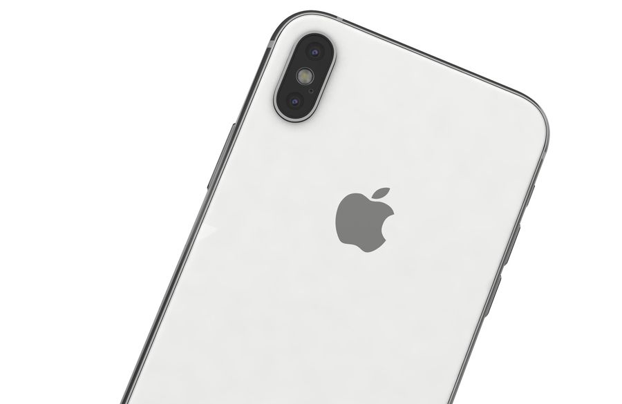 Apple iPhone XS Vit royalty-free 3d model - Preview no. 18