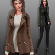 Manteau avec chaussures 3d model