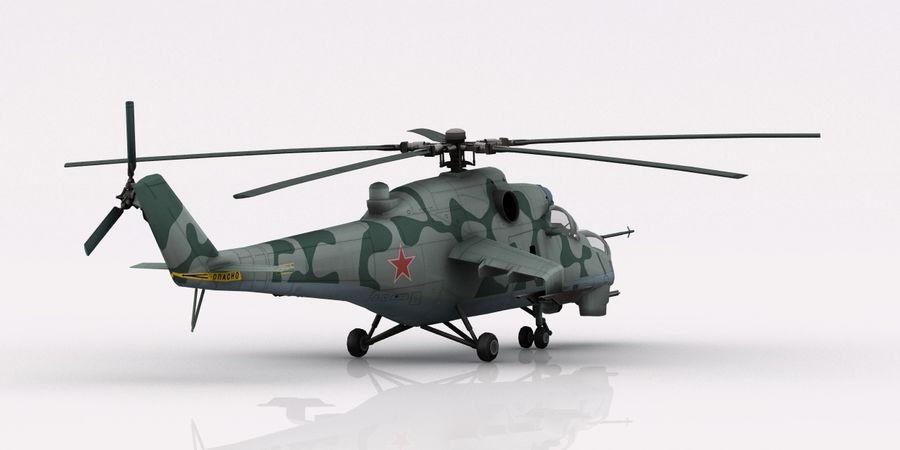 Mil Mi-24 Russia Camo royalty-free 3d model - Preview no. 5