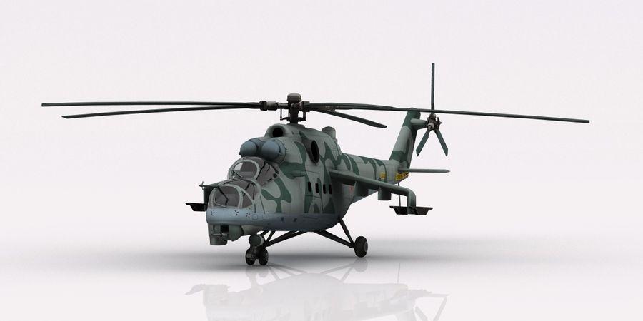Mil Mi-24 Russia Camo royalty-free 3d model - Preview no. 2