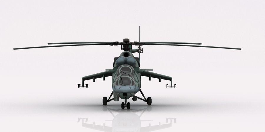 Mil Mi-24 Russia Camo royalty-free 3d model - Preview no. 3