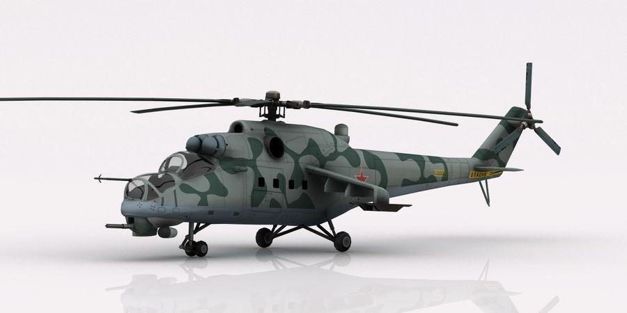 Mil Mi-24 Russia Camo royalty-free 3d model - Preview no. 7