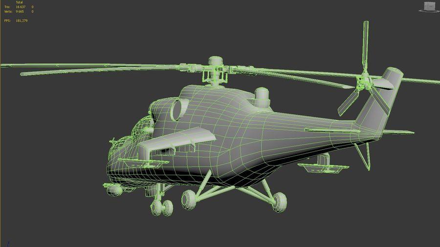 Mil Mi-24 Russia Camo royalty-free 3d model - Preview no. 10