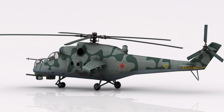 Mil Mi-24 Russia Camo royalty-free 3d model - Preview no. 6