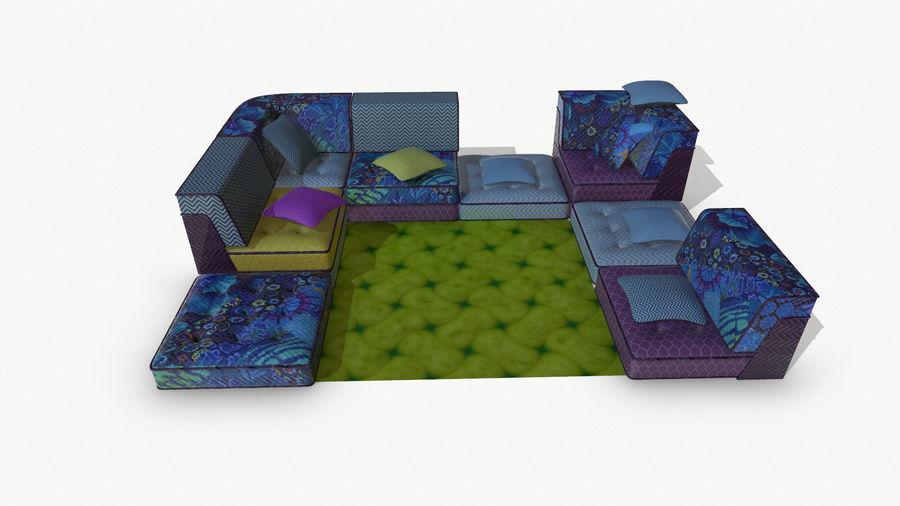 big bong sofa royalty-free 3d model - Preview no. 12