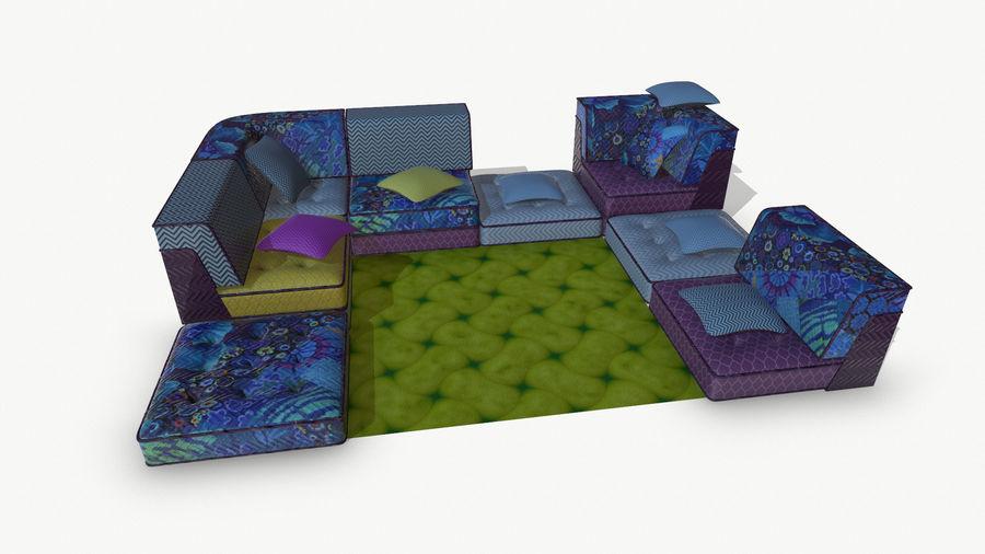 big bong sofa royalty-free 3d model - Preview no. 2