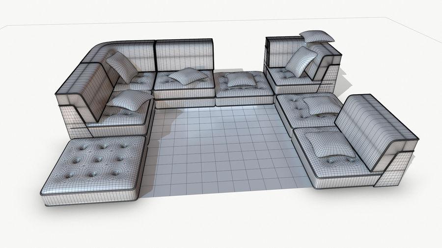 big bong sofa royalty-free 3d model - Preview no. 13
