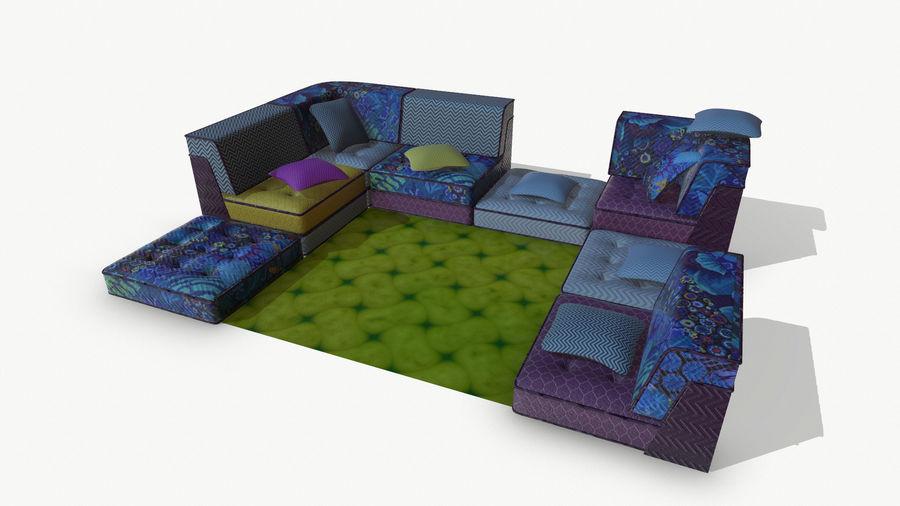 big bong sofa royalty-free 3d model - Preview no. 4
