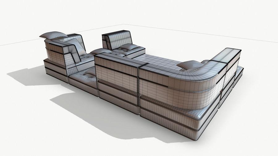 big bong sofa royalty-free 3d model - Preview no. 14