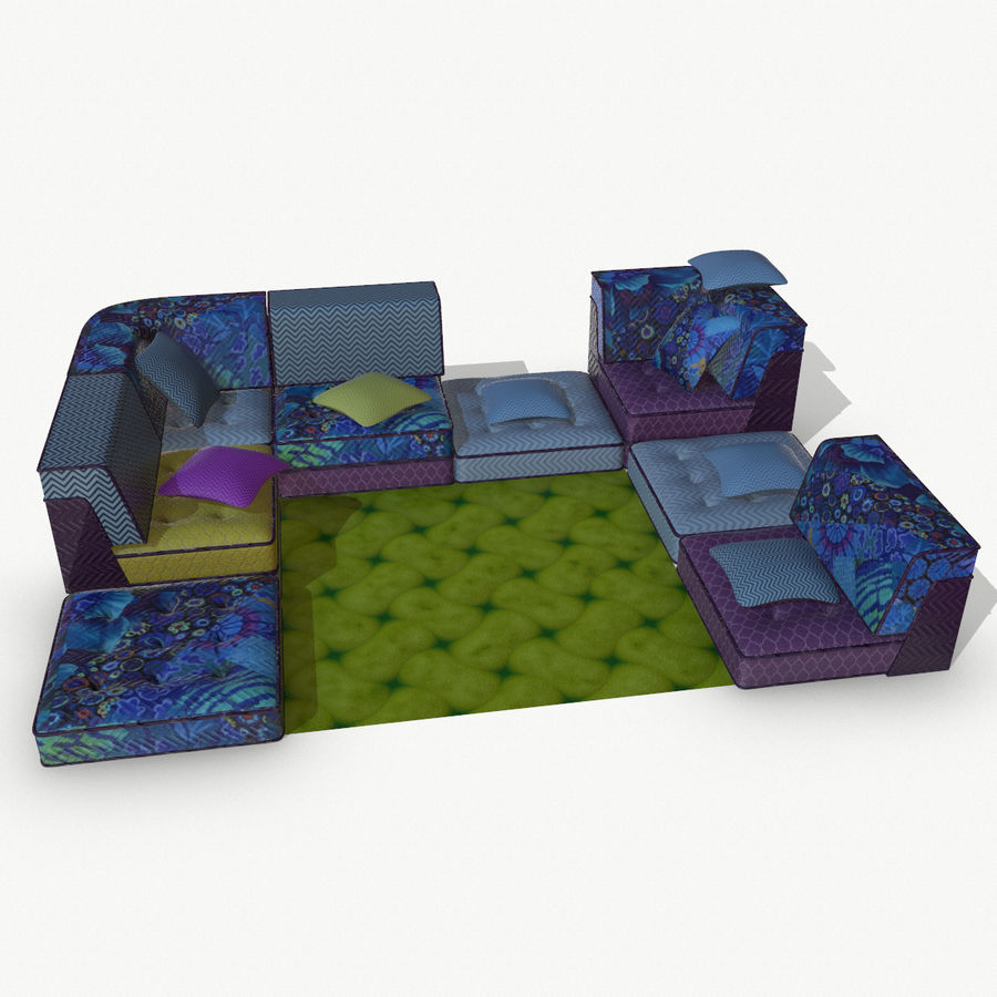 big bong sofa royalty-free 3d model - Preview no. 1