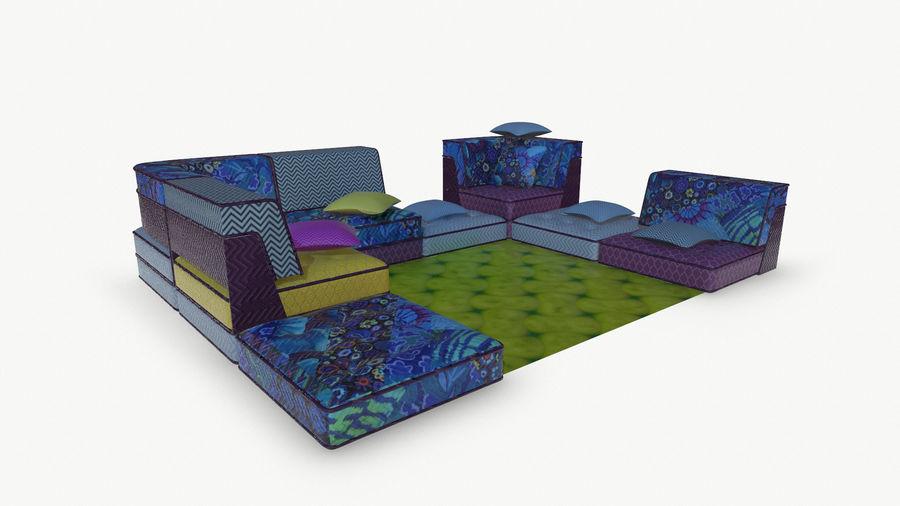 big bong sofa royalty-free 3d model - Preview no. 8