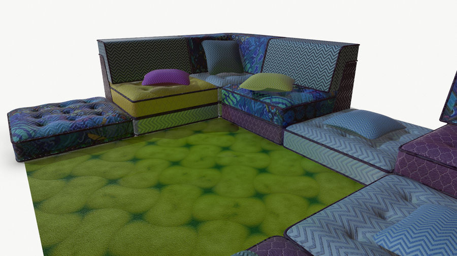 big bong sofa royalty-free 3d model - Preview no. 10