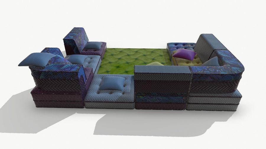big bong sofa royalty-free 3d model - Preview no. 6
