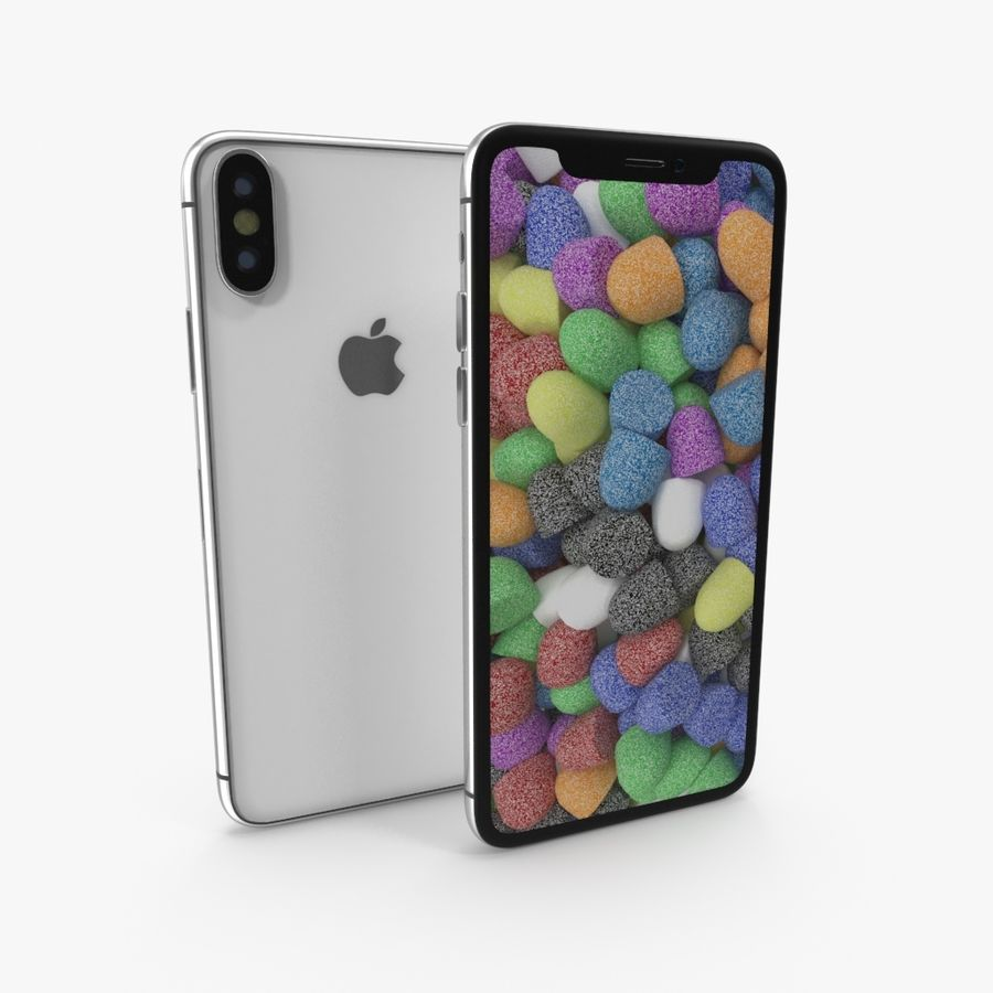 Apple iPhoneX royalty-free 3d model - Preview no. 1