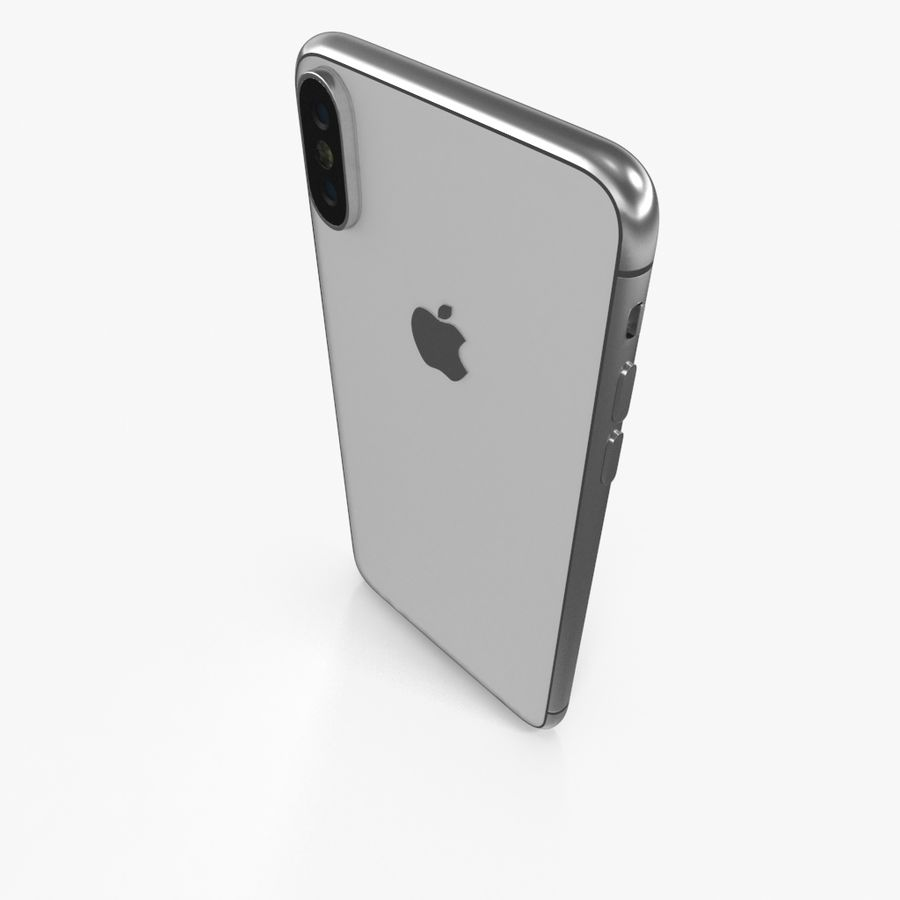 Apple iPhoneX royalty-free 3d model - Preview no. 12