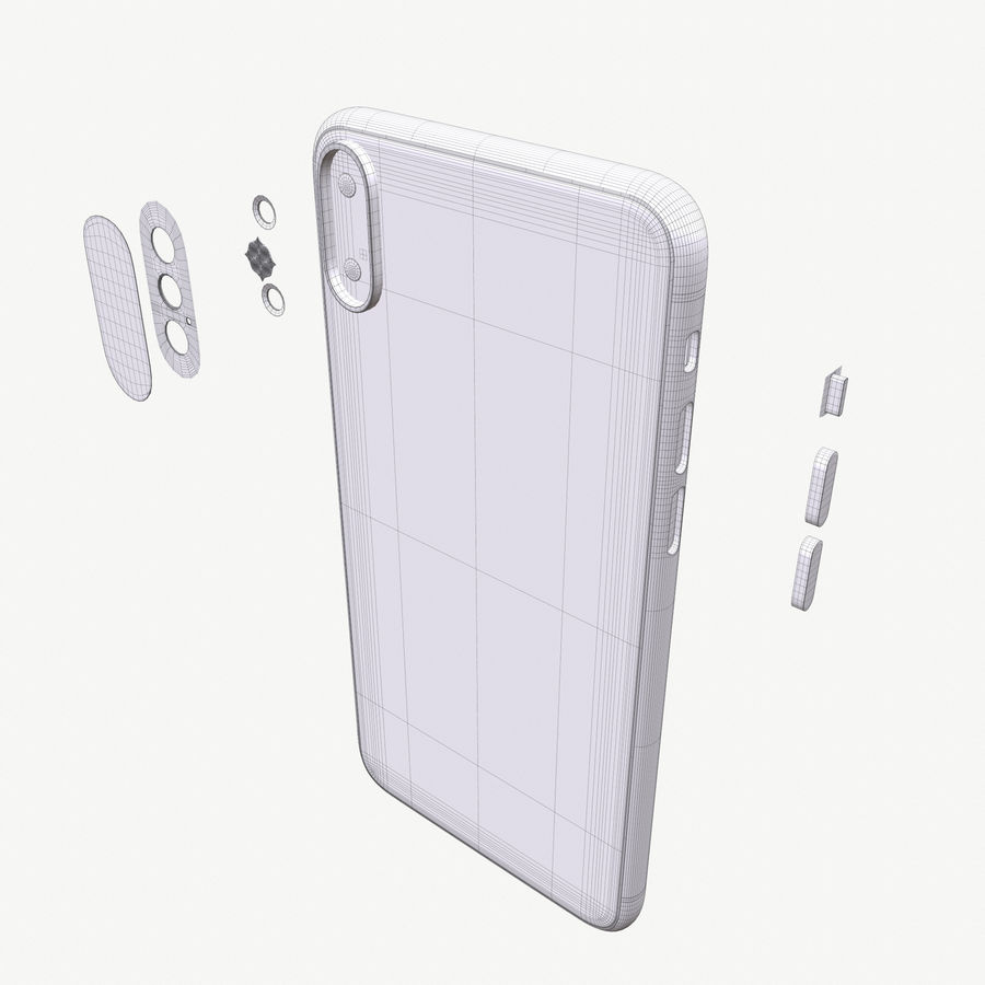 Apple iPhoneX royalty-free 3d model - Preview no. 17