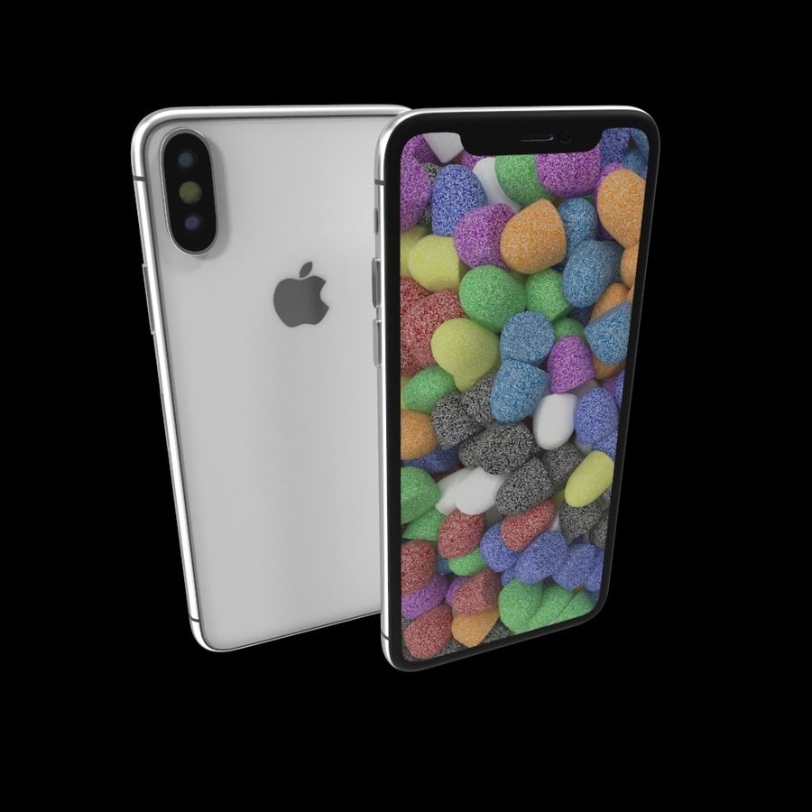 Apple iPhoneX royalty-free 3d model - Preview no. 2
