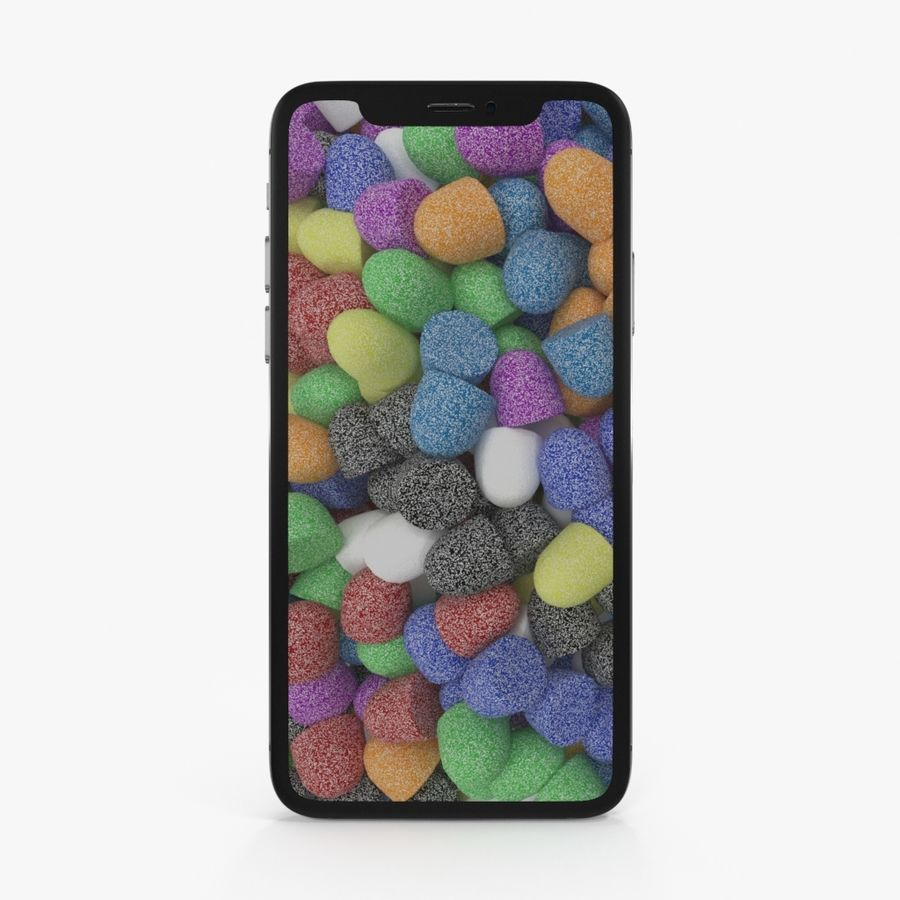 Apple iPhoneX royalty-free 3d model - Preview no. 6