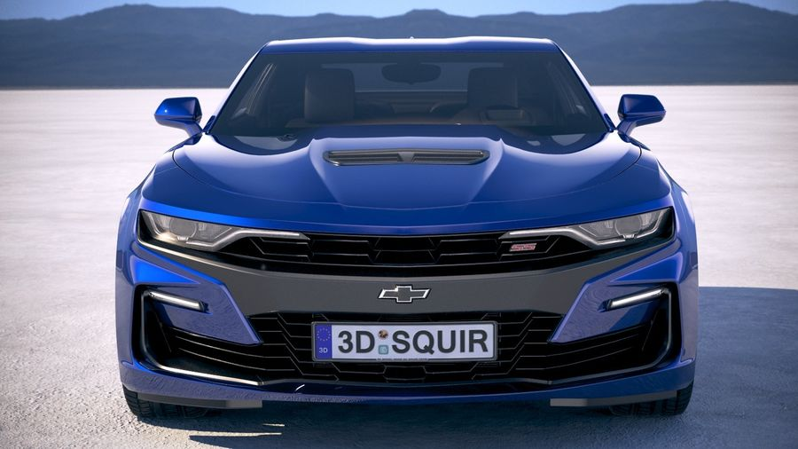 Chevrolet Camaro SS 2019 royalty-free 3d model - Preview no. 10