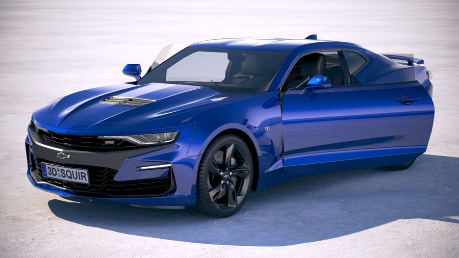 Chevrolet Camaro SS 2019 royalty-free 3d model - Preview no. 18