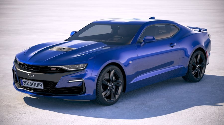 Chevrolet Camaro SS 2019 royalty-free 3d model - Preview no. 1